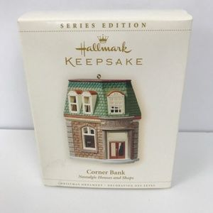 Hallmark Nostalgic Houses  Corner Bank Ornament